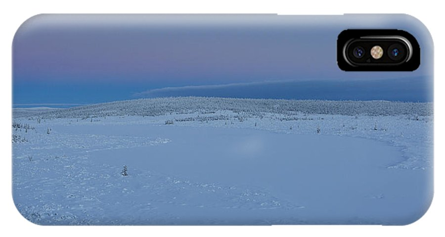 Alaska IPhone X Case featuring the photograph Twilight On The Tundra by Tim Grams