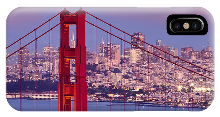 Golden Gate IPhone X Case featuring the photograph Twilight Over San Francisco by Brian Jannsen