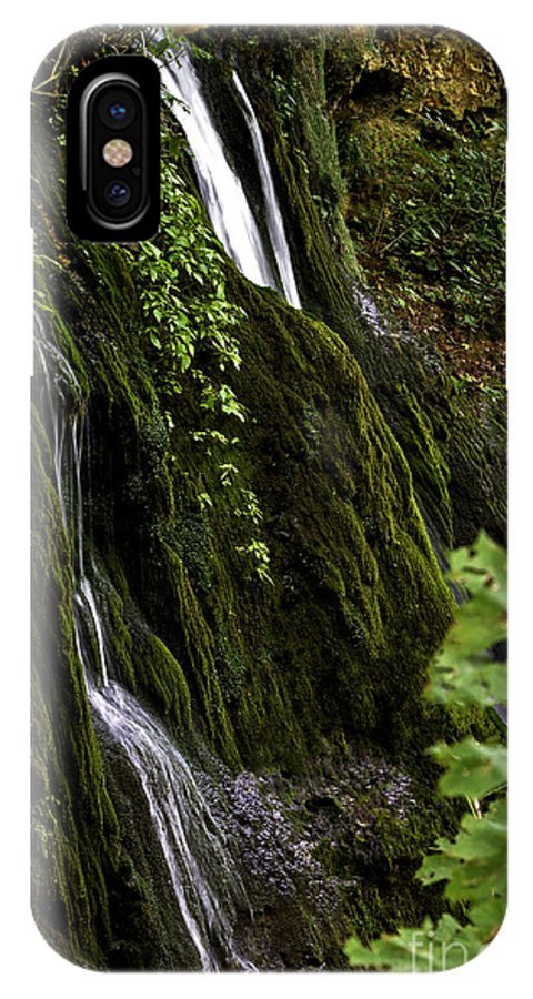 Rural IPhone X Case featuring the photograph Twin Falls by Ken Frischkorn