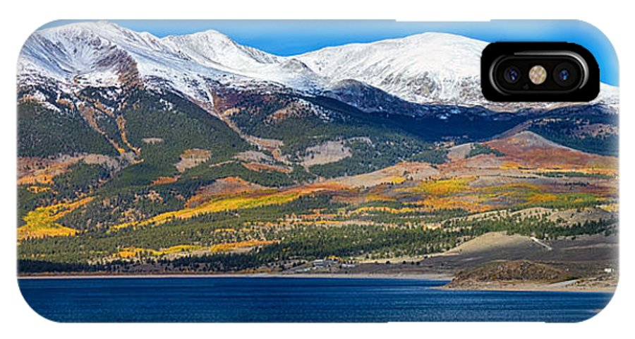 Snow IPhone X Case featuring the photograph Twin Lakes Colorado Autumn Panorama by James BO Insogna