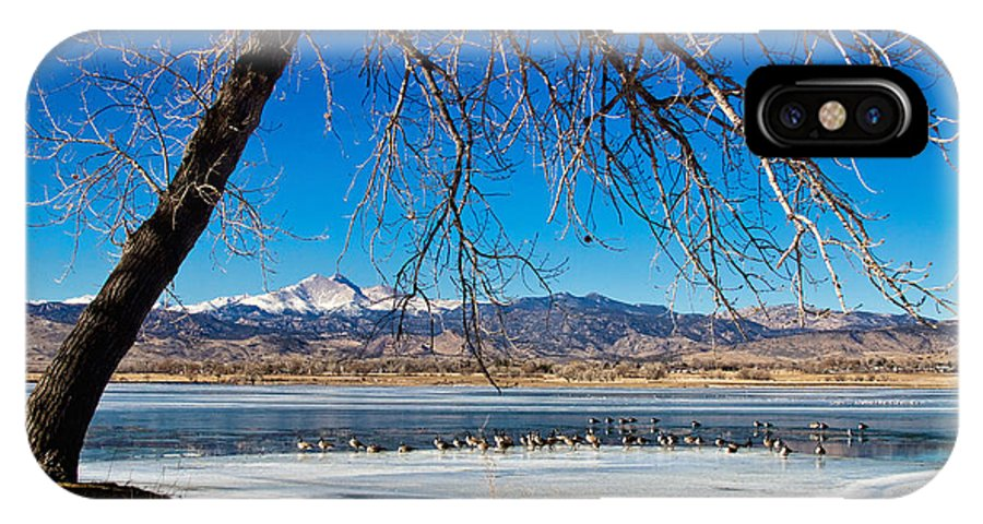 Longs Peak IPhone X Case featuring the photograph Twin Peaks Blue by James BO Insogna