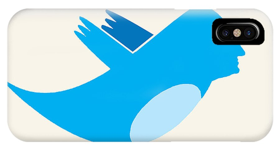 Twitter IPhone X Case featuring the painting Twitter George Washington by Tony Rubino