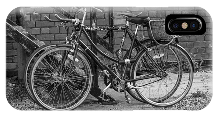 Two Bikes IPhone X / XS Case featuring the photograph Two Bikes by John Hall