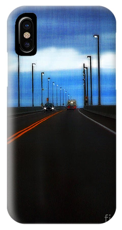 Cars IPhone X Case featuring the painting Two-lane Blacktop by RC DeWinter