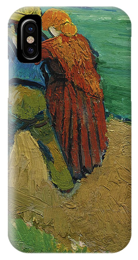 Vincent Van Gogh IPhone X Case featuring the painting Two Lovers by Vincent van Gogh