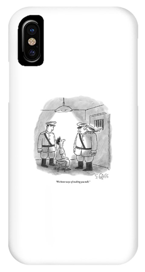 Two Men With A Parrot Interrogate A Prisoner IPhone X Case