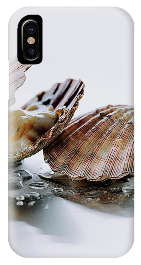 Cooking IPhone X Case featuring the photograph Two Scallops by Romulo Yanes