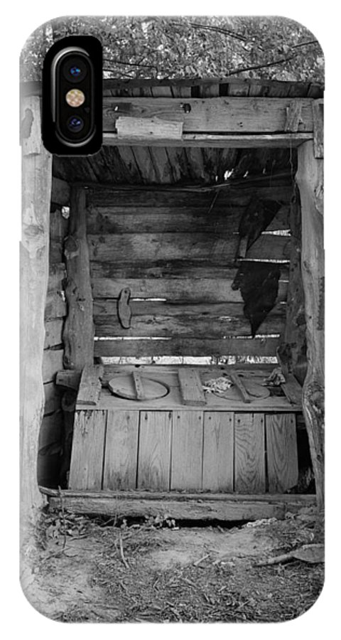 Outhouse IPhone X Case featuring the photograph Two-seater Outhouse by Daniel Hagerman