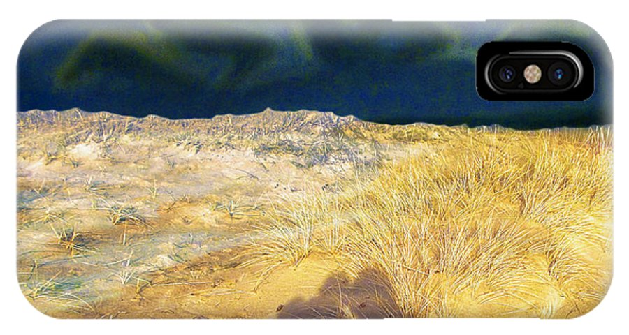 Sky IPhone X Case featuring the painting Two Shadows 02 by Algirdas Lukas