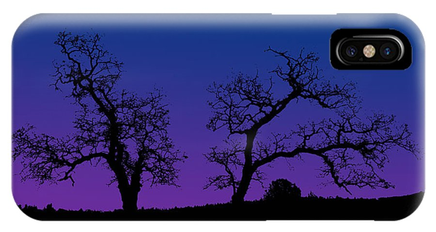 Trees IPhone X Case featuring the photograph Two Trees by Robert Woodward