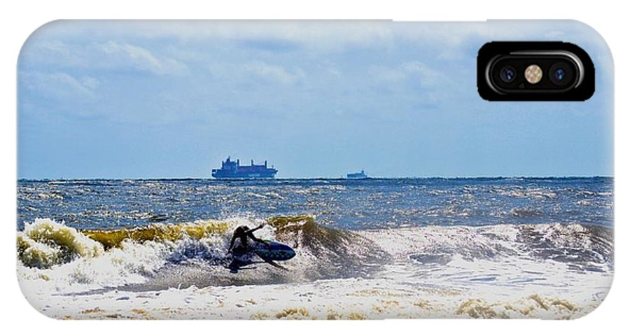 Kite Surfing IPhone X Case featuring the photograph Tybee Island Kite Surfing by Tara Potts