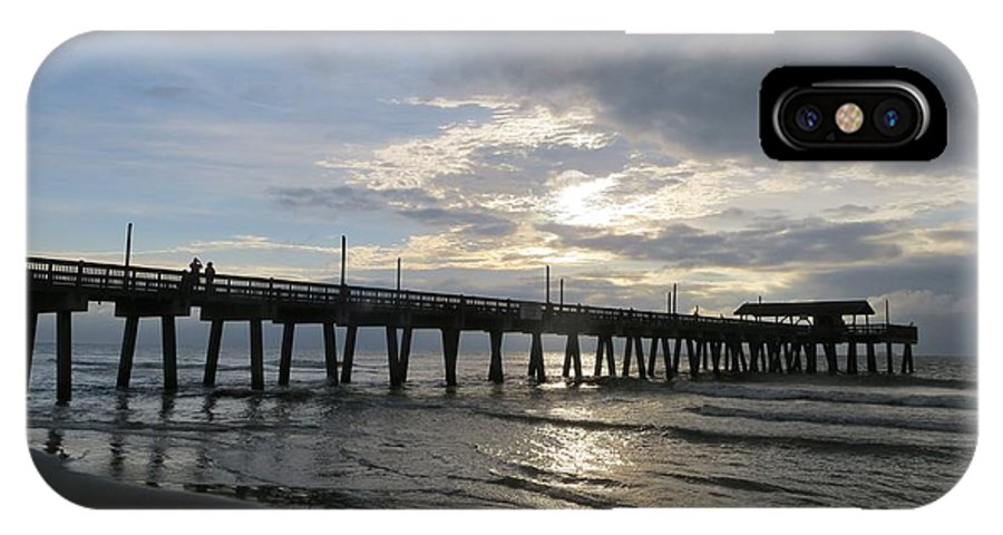 Landscape IPhone X Case featuring the photograph Tybee Island Pier by Todd Smith