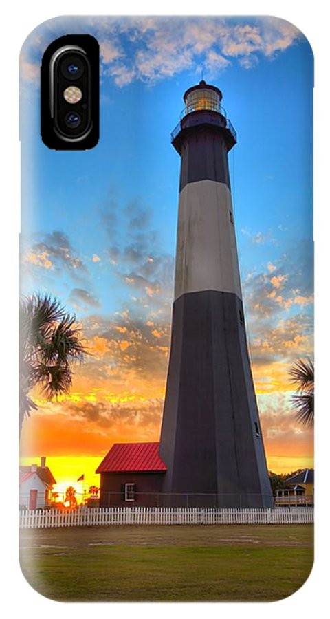 9509 IPhone X Case featuring the photograph Tybee Island Sunrise by Gordon Elwell