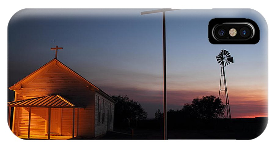 Texas IPhone X Case featuring the photograph Tye Church 2am-104799 by Andrew McInnes
