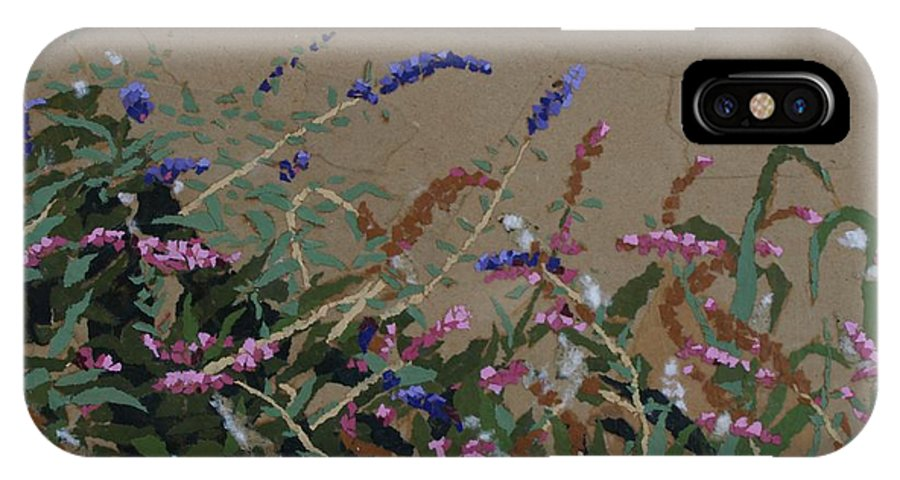 Flowering Butterfly Bush IPhone X Case featuring the painting Tyler by Leah Tomaino