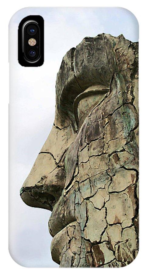 Tyndareus Cracked IPhone X Case featuring the photograph Tyndareus Cracked 1 by Ellen Henneke