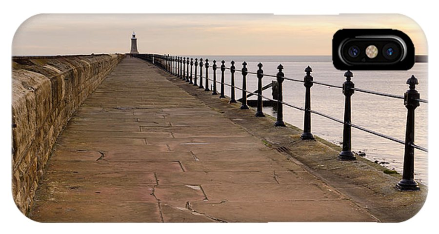 Beacon IPhone X Case featuring the photograph Tynemouth North Pier by David Head