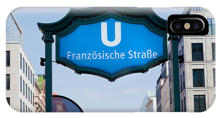 U-bahn IPhone X Case featuring the photograph Ubahn Franzosische Strasse Berlin Germany by Michal Bednarek
