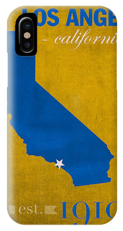 Ucla IPhone X Case Featuring The Mixed Media University Of California Los Angeles Bruins College