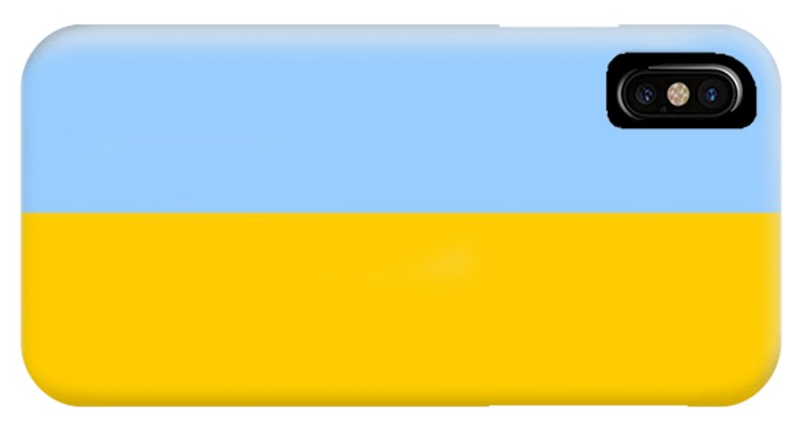 Ukraine IPhone X Case featuring the digital art Ukraine Flag by Frederick Holiday