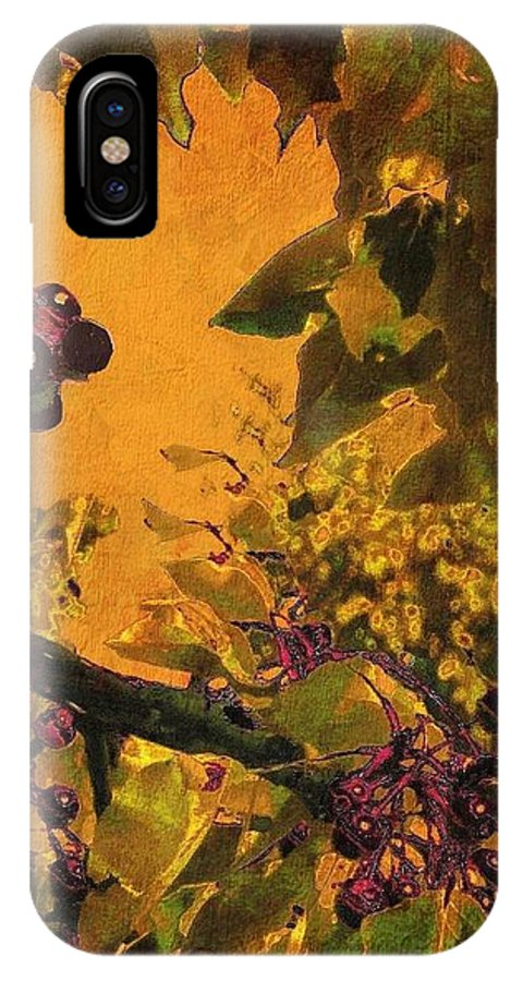 Chokecherry IPhone X Case featuring the photograph Under The Chokecherry Tree by Janette Boyd