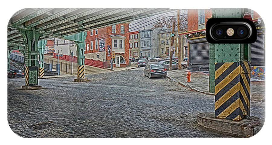 Manayunk IPhone X Case featuring the photograph Under The El Manayunk by Jack Paolini