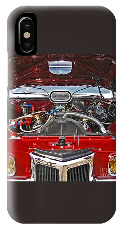 Car IPhone Case featuring the photograph Under The Hood by Ann Horn