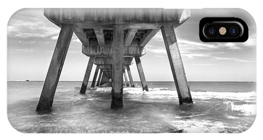 Miami IPhone X Case featuring the photograph Under The Pier by Frank Molina