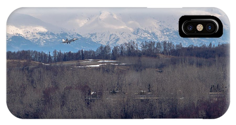 F-22 Raptor Photographs IPhone X Case featuring the photograph Under The Radar by Thomas Sellberg