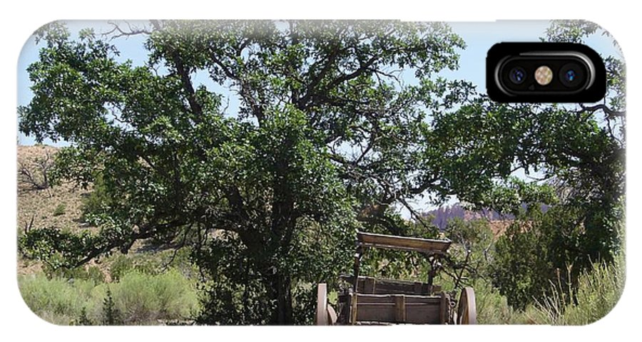 Wagon IPhone X Case featuring the photograph Under The Shade Tree by Mary Rogers