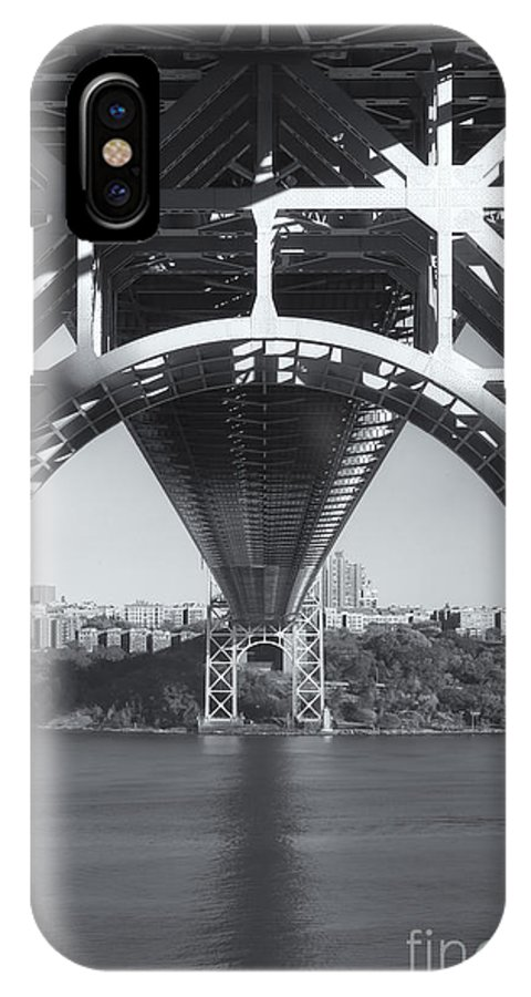 Clarence Holmes IPhone X / XS Case featuring the photograph Underneath The George Washington Bridge Iv by Clarence Holmes
