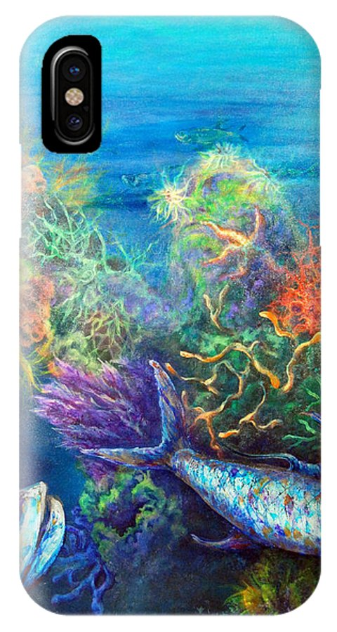 Florida Keys IPhone X Case featuring the painting Jesus Reef by Ashley Kujan
