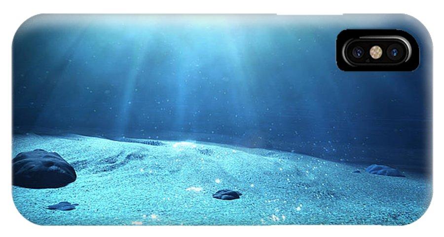 Water IPhone X Case featuring the digital art Underwater Sea Floor by Allan Swart