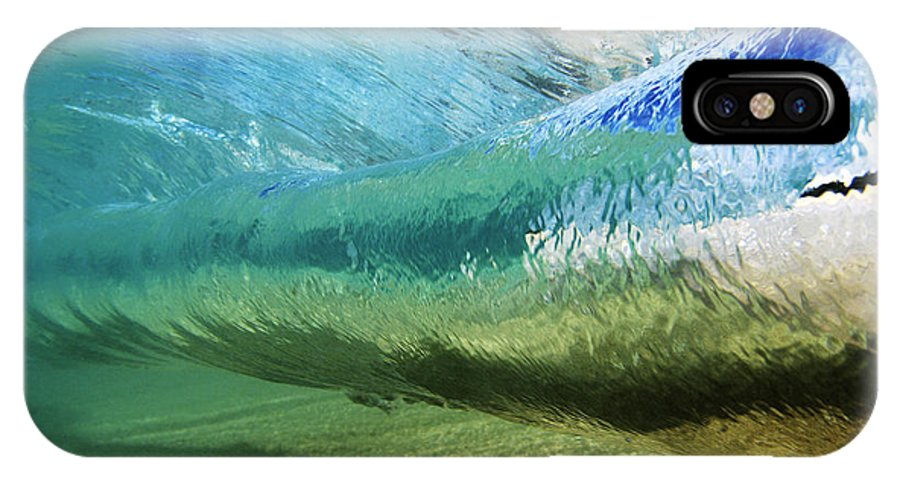 Amaze IPhone X Case featuring the photograph Underwater Wave Curl by Vince Cavataio - Printscapes