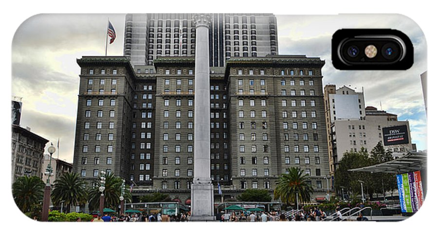 San Francisco IPhone X Case featuring the photograph Union Square Courtyard by Tommy Anderson