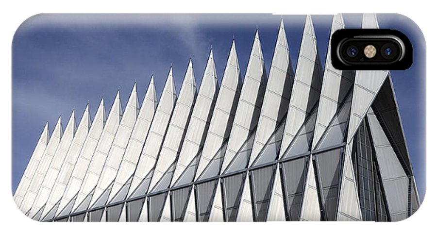 United States Air Force Academy Chapel IPhone X Case featuring the photograph United States Airforce Academy Chapel Colorado by Bob Christopher