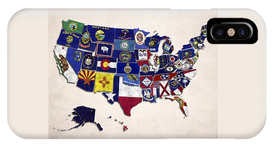 United States Map With Fifty States IPhone X Case on map of united states with states labeled, map of continents, flag of all fifty states, map of japan, map of u.s. territories, all the states, map of all u.s. states, map of all states of america, outline of all fifty states, map of england, map of mexico, go to all fifty states, map of canada, map of puerto rico, map of all 48 states, map of usa states only, map of guam, map of china,