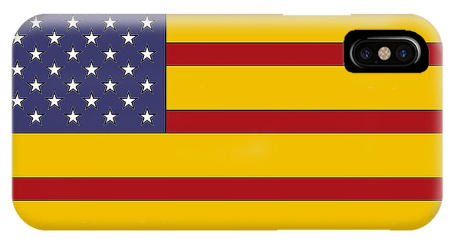 Us IPhone X Case featuring the digital art United States Of Iberia by David Soleno
