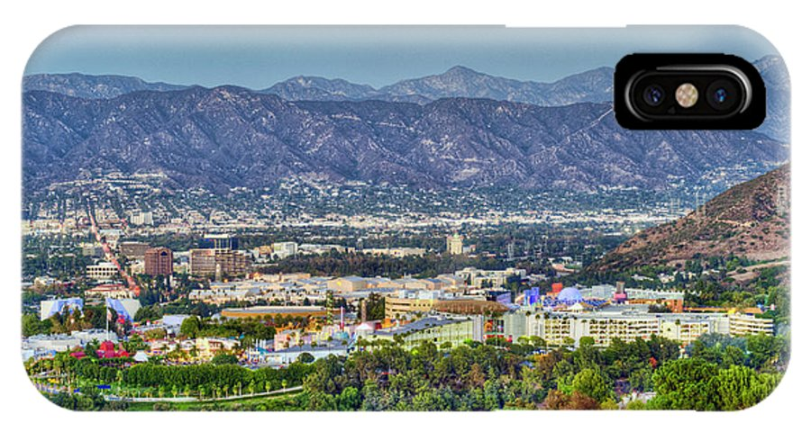 Universal City IPhone X Case featuring the photograph Universal City Warner Bros. Studios Clear Clear Day by David Zanzinger