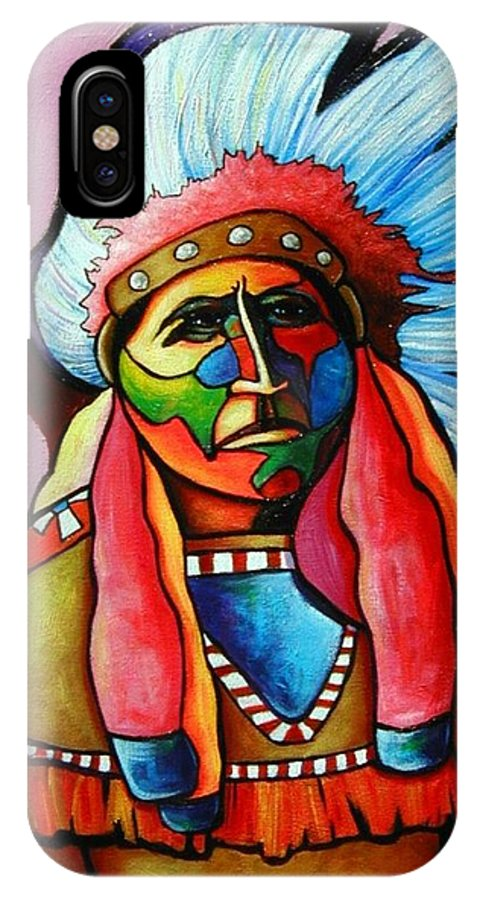 American Indian IPhone Case featuring the painting Until I'm Breathless by Joe Triano