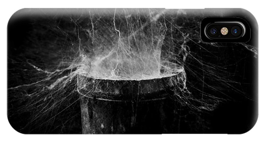 Cobweb IPhone X Case featuring the photograph Untitled Cobweb by Julian Cook