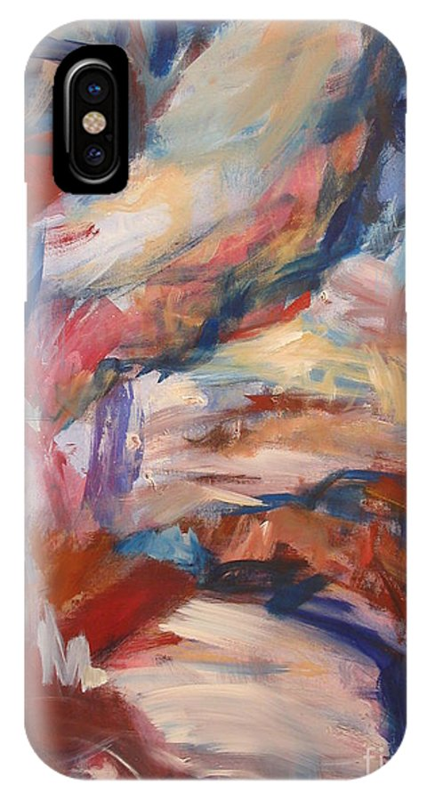 Abstract Painting IPhone X Case featuring the painting Untitled V by Fereshteh Stoecklein