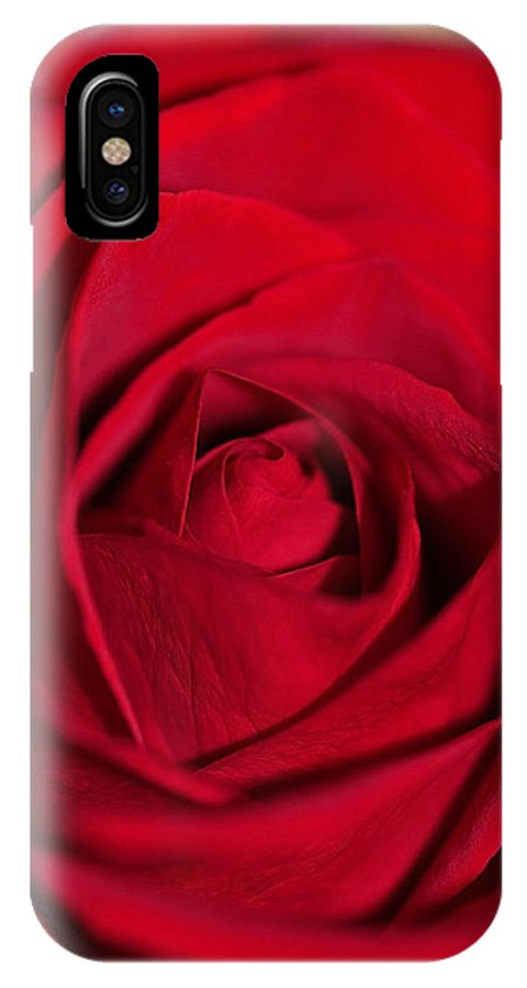 Red IPhone X Case featuring the photograph Up Close And Beautiful by Teri Schuster