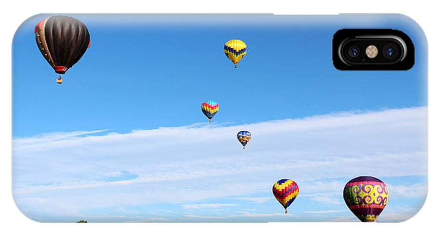 Balloon IPhone X Case featuring the photograph Up Up And Away by George Jones