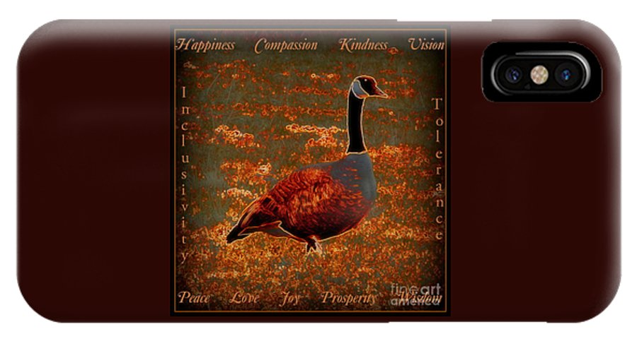 Acrylic Prints IPhone X Case featuring the photograph Uplifting Messaged Art by Bobbee Rickard