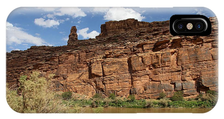 State Route IPhone X Case featuring the photograph Upper Colorado River View by Christiane Schulze Art And Photography