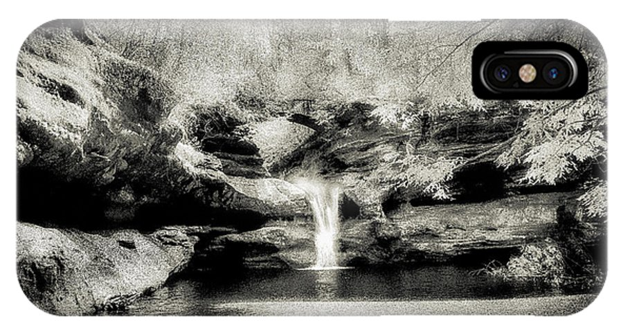 Scenic IPhone X Case featuring the photograph Upper Falls Old Mans Cave In Infrared by Robert Gardner