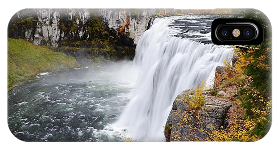 Mesa Falls IPhone X Case featuring the photograph Upper Mesa by Deanna Cagle