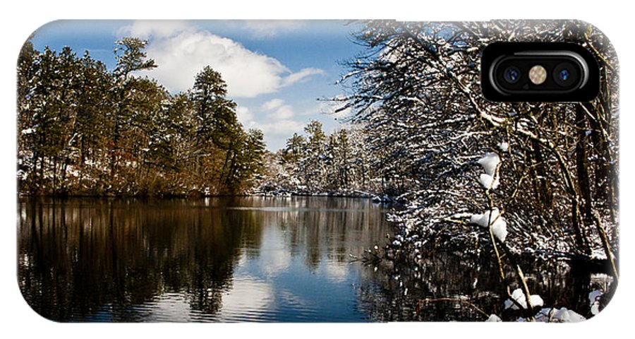 Winter IPhone X Case featuring the photograph Upper Pond 3 by Dennis Coates