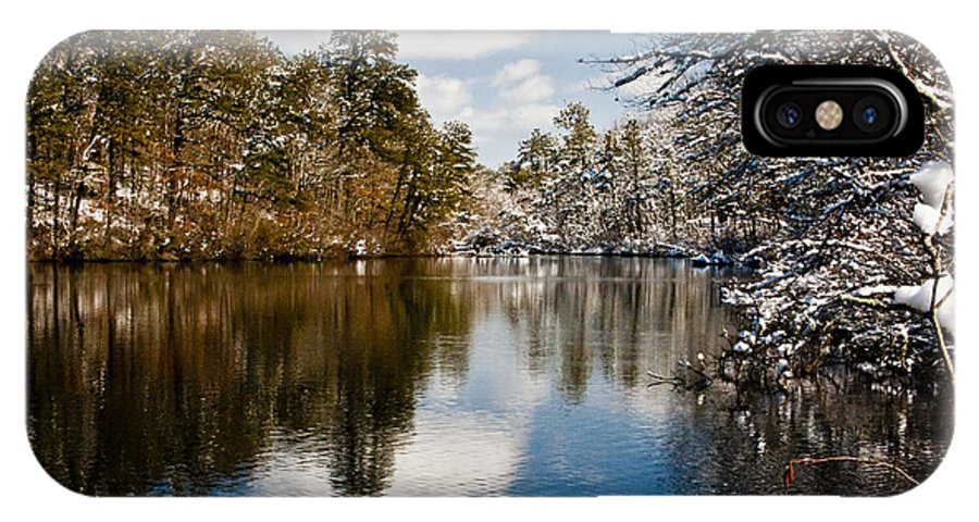 Winter IPhone X Case featuring the photograph Upper Pond by Dennis Coates